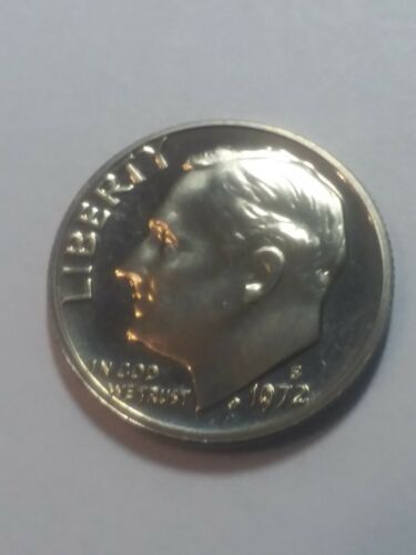 1972 S Roosevelt Dime Gem Cameo CN-Clad PROOF US  Coin
