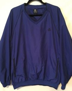 NWT Mens PEBBLE BEACH Blue Full Zip Performance Sweatshirt Jacket Stitch Sz M