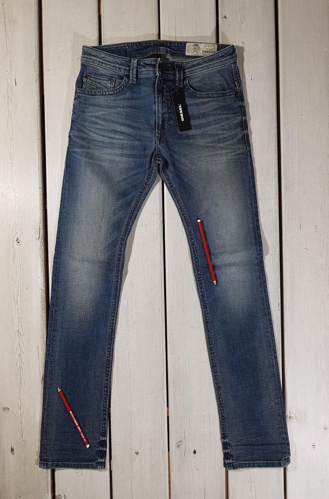 Neu Diesel HERREN Jeans Thavar 0857n Schmal Schmal Schmal Skinny Stretch 93c820