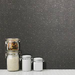 Kitchen Tiles On A Roll mosaic tile black glitter wallpaper kitchen and bathroom tiling on