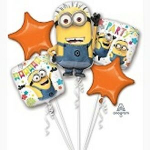 "5 x 23/"" Minion Despicable Me Supershape Helium Balloon Birthday Party"