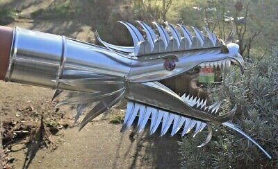 """Für Ht/kg Dn 110 Drachenkopf Drachen Dragon Zink Wasserspeier """"scarlet"""""""