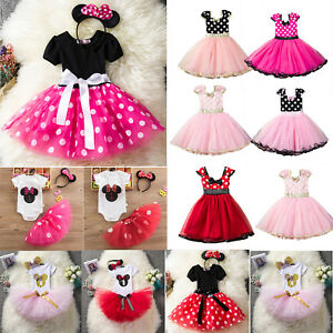 Toddler-Baby-Girl-Minnie-Mouse-Bow-Dress-Tutu-Skirt-Party-Birthday-Fancy-Costume