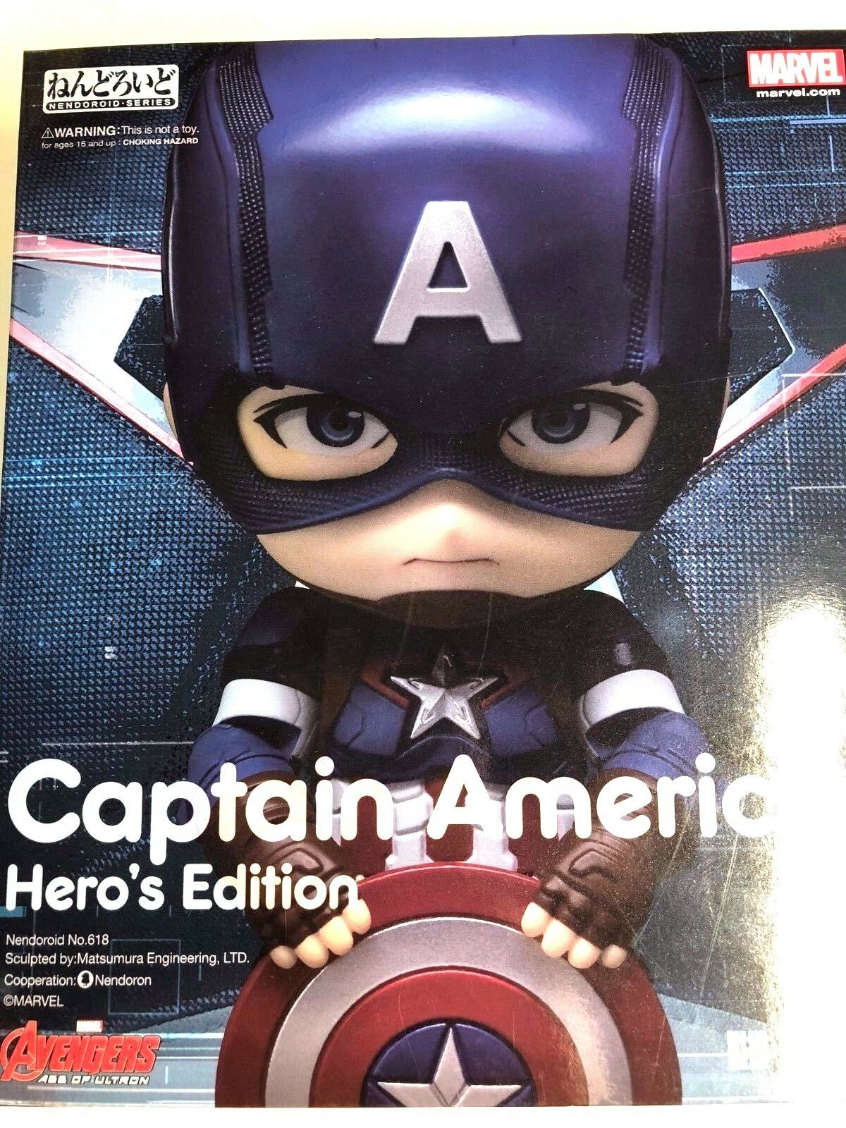 Free Shipping Authentic Nendgoldid Captain America Avengers Age of Ultron Hero