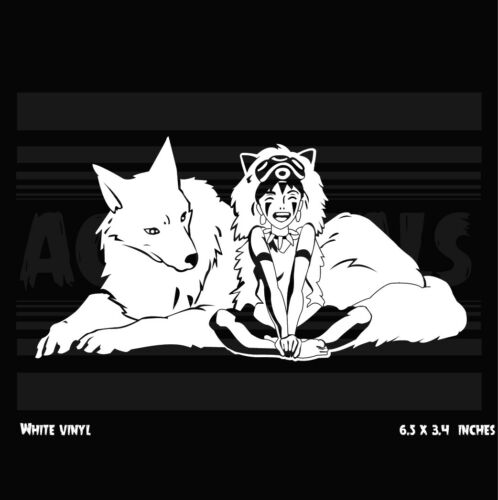 wolf and san Princess Mononoke Vinyl decal sticker Anime