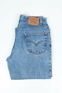 30184 Vintage Levi'S Levi Strauss Relax Jambe Coupe Droite Jeans Bleu En Sz