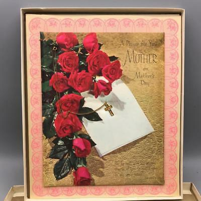 In QualitäT Diplomatisch Vintage Riesige Muttertag Grußkarte 25.4cmx30.5cm üBerlegene