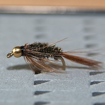 6 Gold Head Epoxy Buzzers Trout and Grayling fly fishing flies by Dragonflies