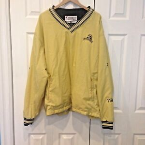 8366d353651fd0 Image is loading Champion-Pull-Over-Jacket-Yellow-Pittsburgh-Panthers-Event-