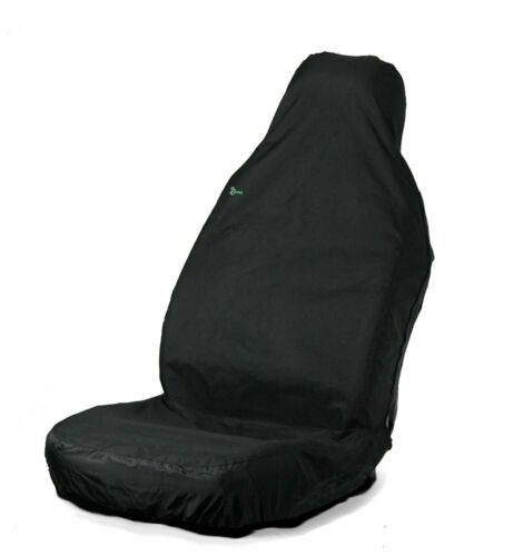 Universal Car Front Seat Cover Waterproof Protective Premium Quality Black 3DF