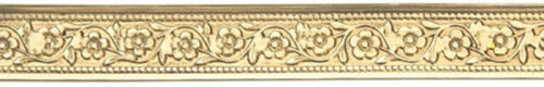 Flower Chain Patterned Brass Wire 3 Foot Package 8mm Wide