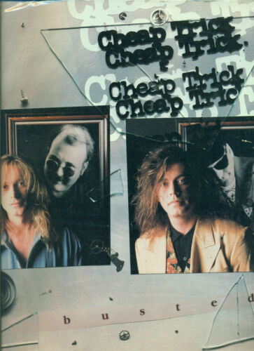 """CHEAP TRICK /""""BUSTED/"""" P//V//C MUSIC BOOK COLLECTORS ITEM ON SALE"""