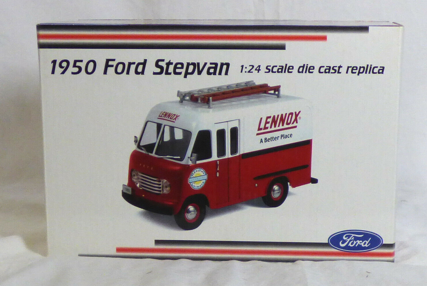 Crown Premiums Lennox 1950 Ford stepvan escala 1 24 - Nuevo