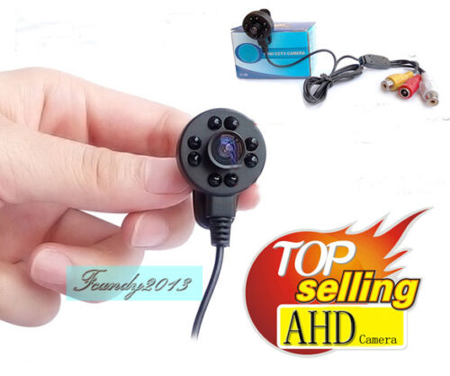 With Power AHD 170degree 940nm Night vision 720P HD hidden micro pinhole camera