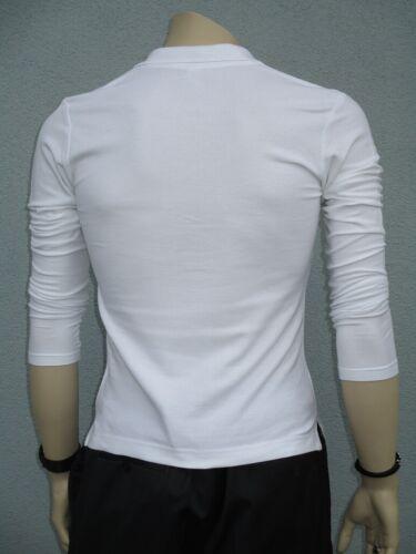 Poloshirt Langarm weiß schlanke Größe