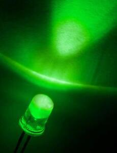 25-Stueck-LED-5mm-gruene-Farbe-klar-30mA-fuer-Arduino-Raspberry-Pi-basteln