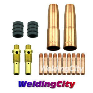MIG-Welding-Gun-Kit-035-034-for-Lincoln-200-250-Tweco-2-Heavy-Duty-Tip-Nozzle-M7H