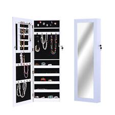 Armoire à bijoux avec miroir et clé murale blanc neuf 02WT