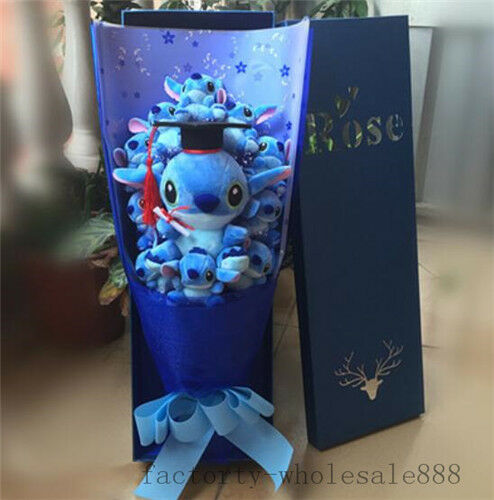 NICE Bunch of 11 Lilo Stitch Doctor flowers Plush Doll Toy Box Birthday Day Gift