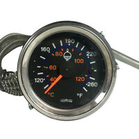 Universal 2 52mm Car Turck Auto Water Temperature Temp Gauge Meter