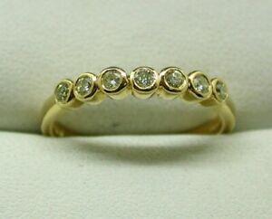 Beautiful-18-carat-Yellow-Gold-7-Stone-Lemon-Diamond-Half-Eternity-Ring-Size-P