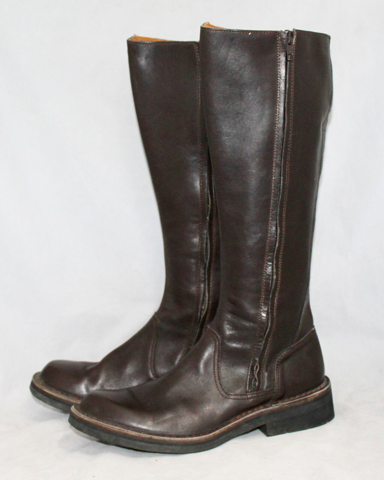 GIUSEPPE GIANOTTI Brown Leather Leather Leather Knee Boot Wo's 10 Eu 40 Two-Side Zip e4cb09