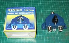 Moonraker CS201 2-Way Antenna Switch Coax Radio Signal