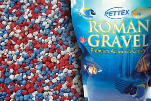Aquatic-Red-White-amp-Blue-Tri-Color-4-4lb-Aquarium-Fish-Tank-Gravel-Substrates