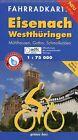 Eisenach Westthüringen Fahrradkarte 1 : 75 000 (2012, Mappe)
