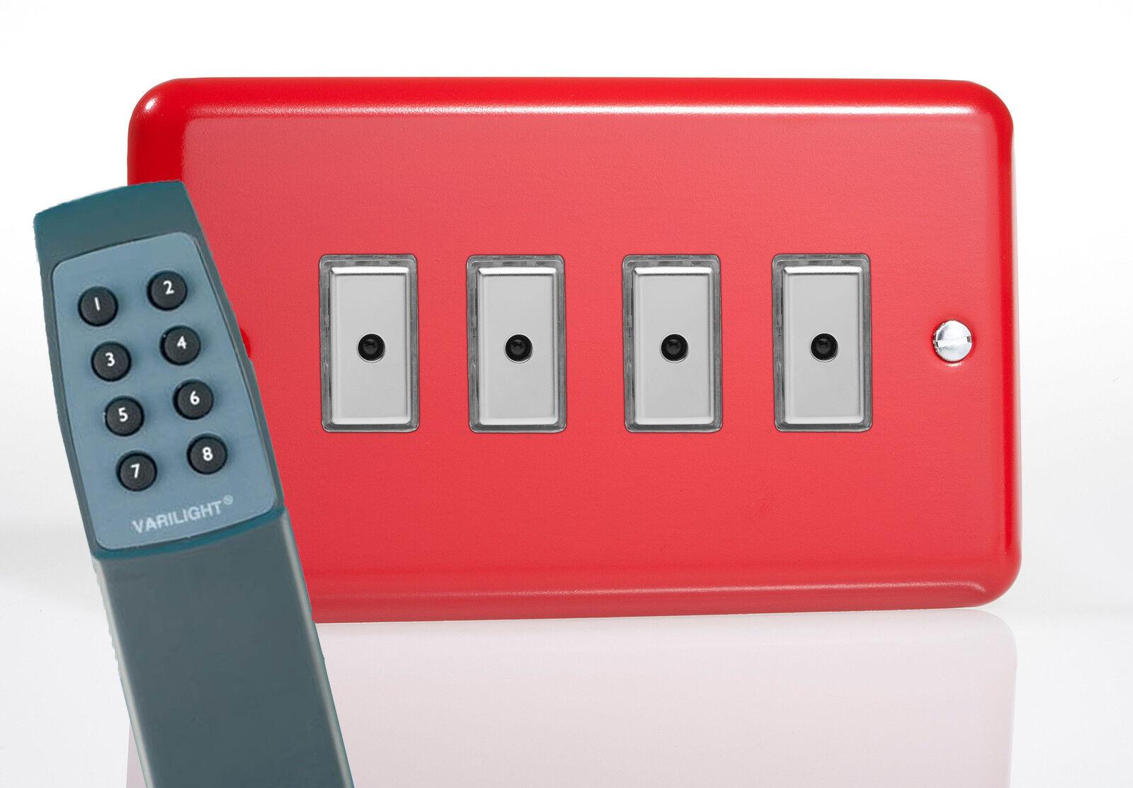 Varilight 4-Gang 1-Way à distance/tactile touch control Master DEL DEL DEL Gradateur de Lumière Suisse | Produits De Qualité  064245