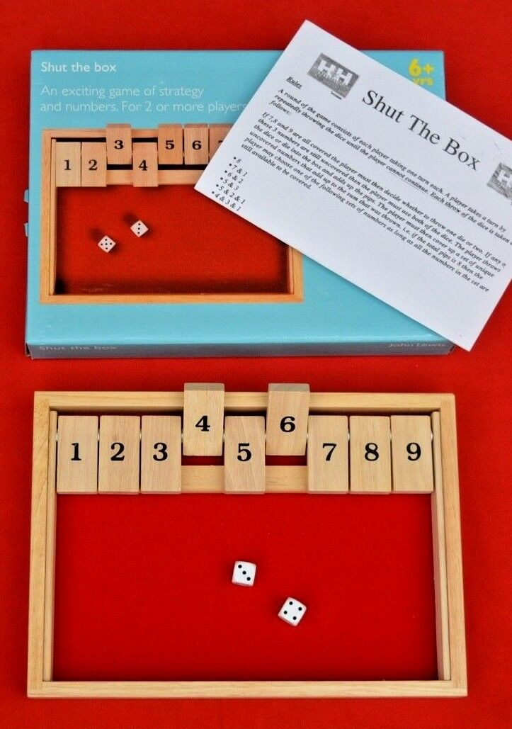 SHUT THE ALL BOX GAME - ALL THE WOOD CONSTRUCTION - JOHN LEWIS TOYS e4c011