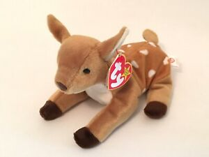 Ty Beanie Babies Whisper The Deer Rare Retired Mint Condition