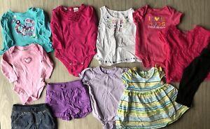 Baby Girl Clothing Lot 0 3 3 6 6 9 9 12 Months Assorted Brands Summer Spring Ebay