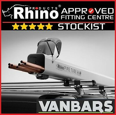 RHINO 3M PIPE TUBE CARRIER UNIVERSAL ROOF RACK BARS FITTING RP12 LOCKABLE