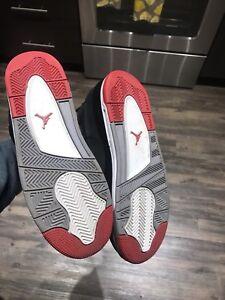 Men-s-Air-Jordan-Retro-4-s-Breds-Black-Red-White-Size-6-5