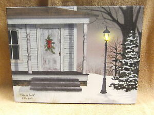 Bless this Home Peace Prosperity Lighted Canvas Wall Decor Sign Billy jacobs New