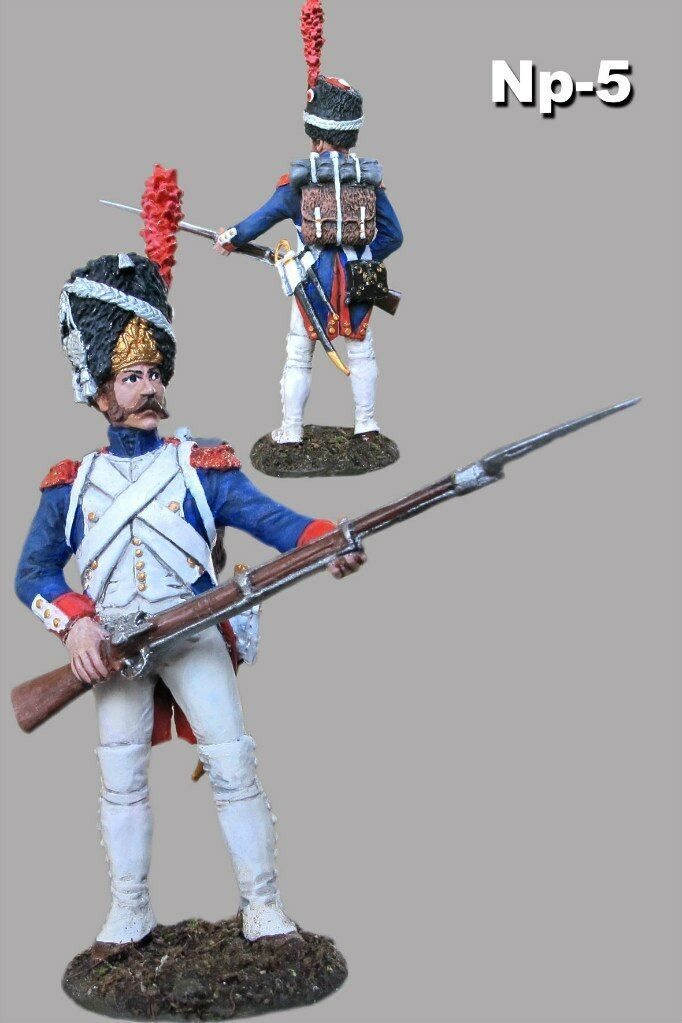 Toy Soldiers Painted Veteran Napoleon War 1 32 scale 54mm Tin Metal Figure