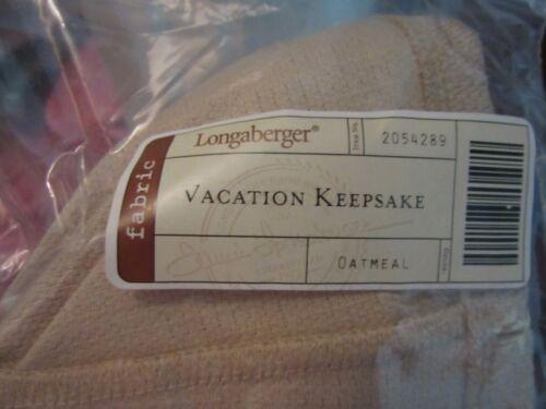 Longaberger Vacation Basket Liner Oatmeal NEW