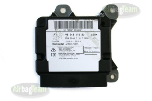 Peugeot 3008 308 Airbag ECU Control Module 9824811680 A2C96579805 No Crash Data