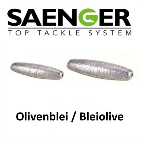 Bleiolive Durchlaufblei Sänger Specitec OLIVENBLEI 4 Stück 10gr.