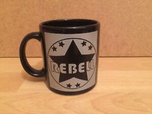 Waechtersbach-Rebell-Kaffeepott-Humpen-Becher-Tasse-schwarz-silber