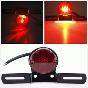 For Motorcycle Harley Chopper Bike Cross Rear Tail Brake License Plate Led Light Electric Vehicle Parts Accessories
