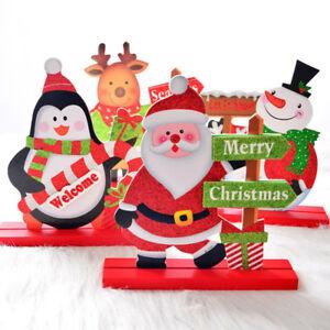 Détails sur Ornement Bois Père Noël Bonhomme Neige Décoration Noël Table  Salon Cadeau Métier