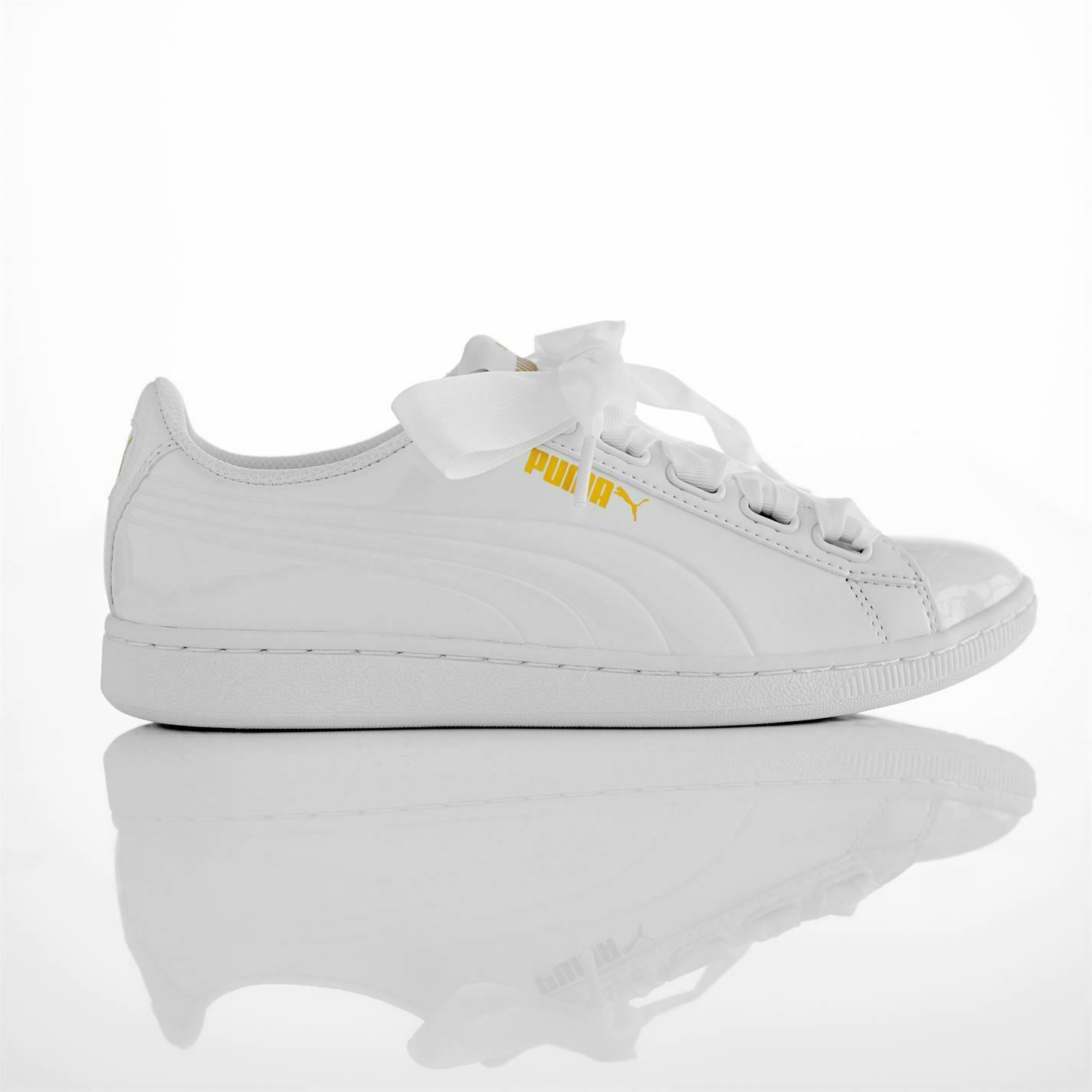 Puma Vikky Ribbon Trainers Trainers Trainers Womens Wht Sports Trainers Sneakers ddcec7