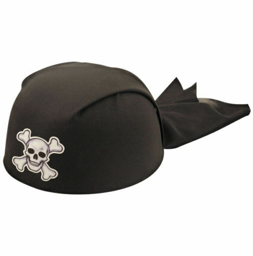 Adulto Pirata Bandana Cappello Bandana teschio ossa incrociate sul Headwear party accessori Regno Unito