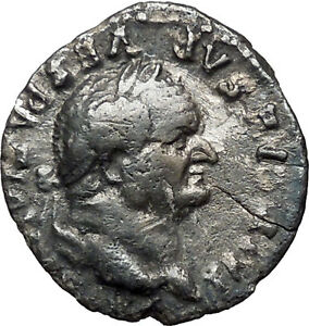 VESPASIAN-75AD-Ancient-Silver-Denarius-Roman-Coin-PAX-Peace-Goddess-Cult-i33566
