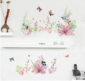 Flower-Birds-Butterflies-Removable-Kids-Baby-Wall-Decal-Vinyl-Stickers-Art-Decor