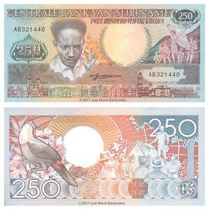 Surinam-250-Gulden-1988-P-134-Billetes-Unc
