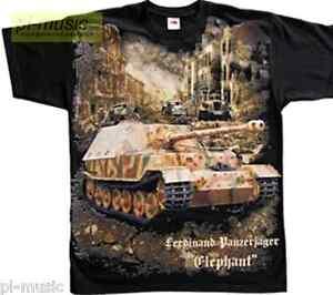 t-shirt-TANK-ELEPHANT-Ferdinand-Panzerjager-Tiger-size-M-koszulka-WW2-WWII