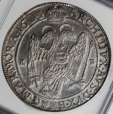 Hungary 1604 Rudolph II Silver Thaler NGC AU50
